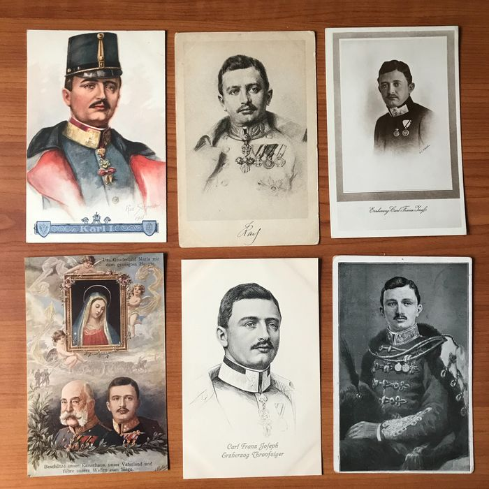 Royalty, Royal House of Austria - Postcards (Group of 60) - 1900