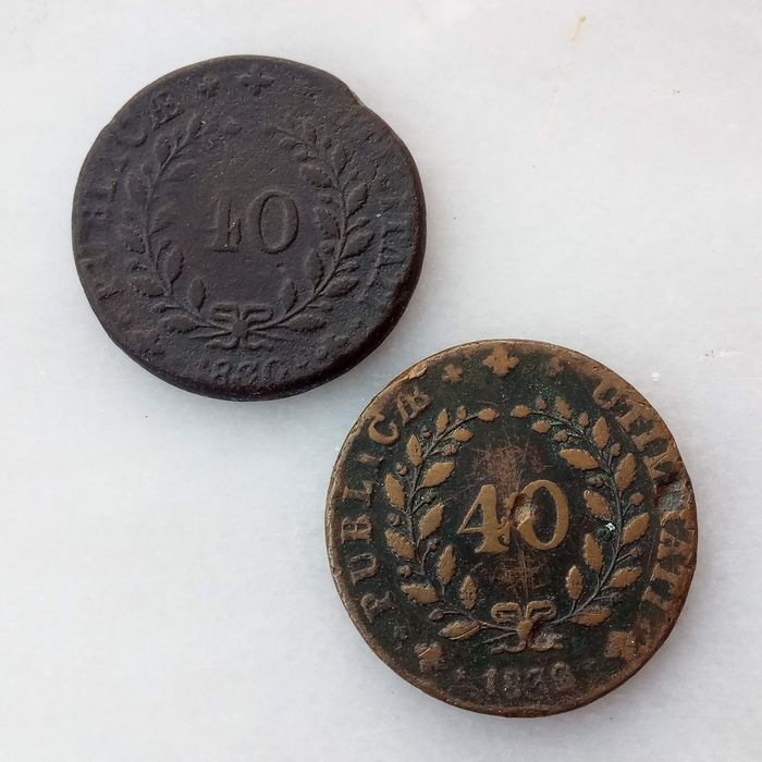 Portugal. D. Miguel I (1828-1834). Pataco (40 Reis) 1830 & 1832