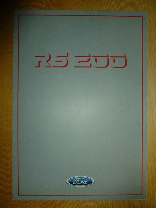 Folletos/catálogos - Ford RS200 (Group B Rally car) 8 page sales catalog - Ford