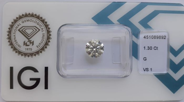 Diamante - 1.30 ct - Redondo - G - VS1