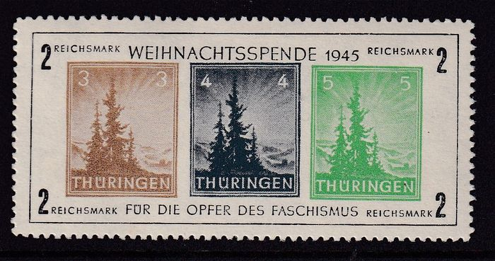 Allied Occupation - Germany (Soviet zone) 1945 - Thuringen - Michel 1 x