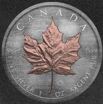 Canada. 5 Dollars 2018 'Maple Leaf - Antique Rose Gold' - with Box and Certificate