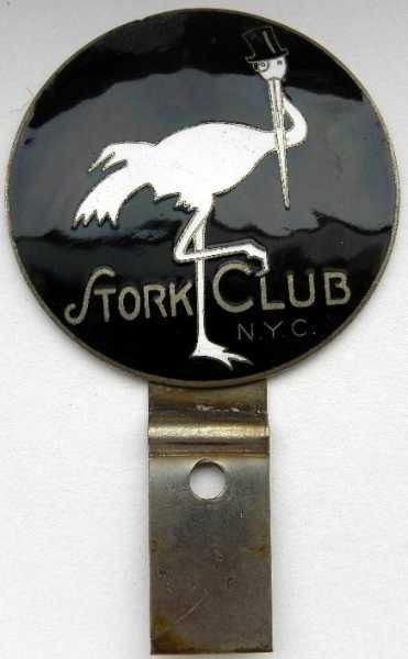 Emblème/mascotte/badge - New York City, Anni '30 - Stork Club
