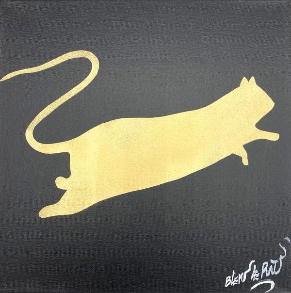 "Blek Le Rat (1951) - ""Gold Rat on Black Canvas"""