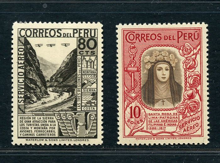 Peru 1936/1937 - Means of transport and views - Yvert NN. PA 16/28