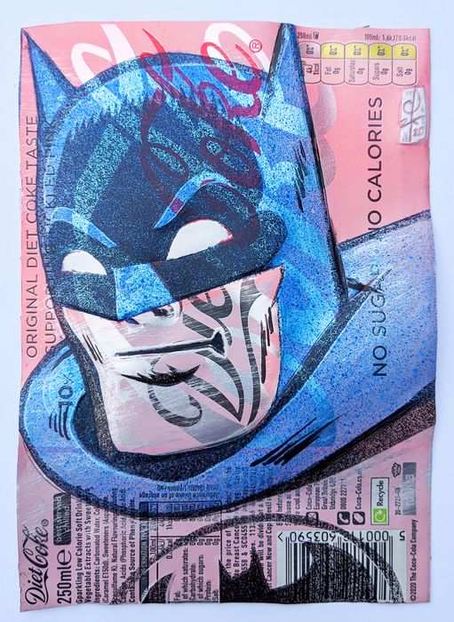 ComicCAN - ORIGINAL ARTWORK by Chris Duncan - BATMAN on DIET COKE can - Unikat - (2020/2020)