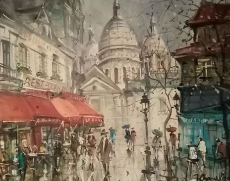 Jacques Chardon - Place du Tertre