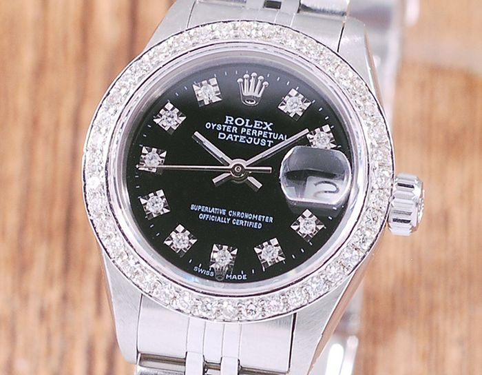 Rolex - Oyster Perpetual DateJust - 69174 - Femme - 1990-1999