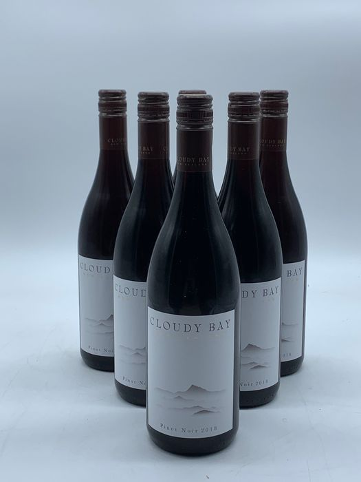 2018 Cloudy Bay Pinot Noir - Marlborough - 3 Flessen (0.75 liter)