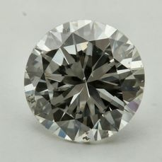 1 pcs Diamante - 0.76 ct - Brillante - J - SI2 ***No Reserve***