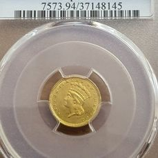 Stany Zjednoczone. 1 Dollar 1873 Indian Head (Type 3) with open 3 in PCGS Slab