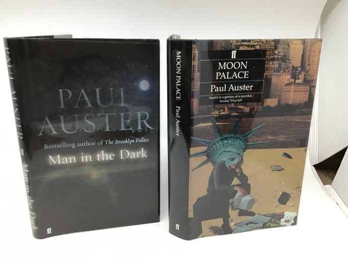 Paul Auster - Moon Palace + Man in the Dark (signed first edition) - 1989/2008