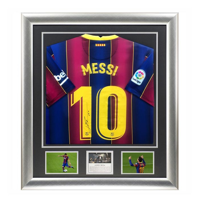 FC Barcelona - Lionel Messi - 2021 - Signiertes Jersey