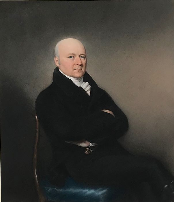 English School (XIX century) - Half length seated portrait of a well dressed gentleman