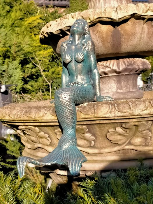 large heavy mermaid for home or garden - Iron (cast) - recent