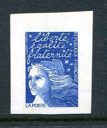 France - Unissued variety, TVP blue, Marianne by Luquet, self-adhesive - Yvert 3085