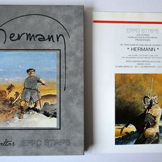 Hermann - Grijs fluwelen cover - 26 ex. + folder - Hardcover - First edition - (1992)