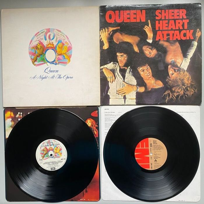 Queen - A Night At The Opera + Sheer Heart Attack  [first UK Pressing] - Multiple titles - LP Album - 1974/1975
