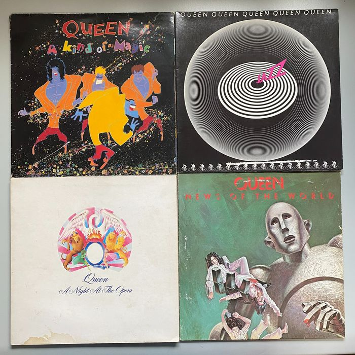 Queen - A Night at The Opera, News of the World, Jazz, A Kind Of Magic - Multiple titles - LP's - 1975/1986