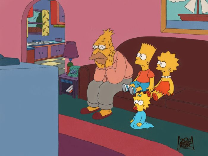 The Simpsons - Animation cel setup - T2:E20 'The War of the Simpsons' (1991)