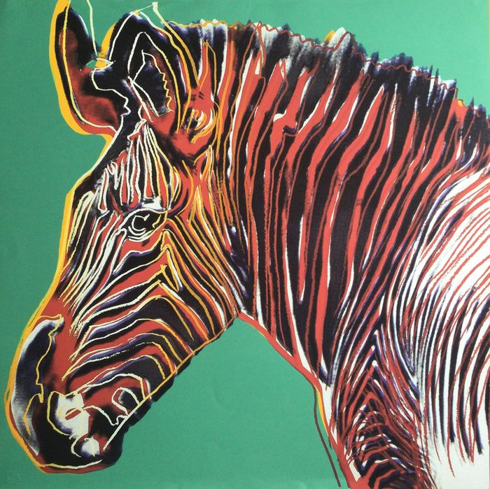 After Andy Warhol (1928 - 1987) - Grevy's Zebra, from: Endangered Species