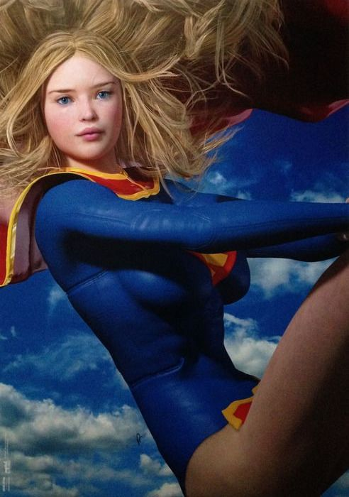 Paul Sutton - Print - Sexy Supergirl - (2020)