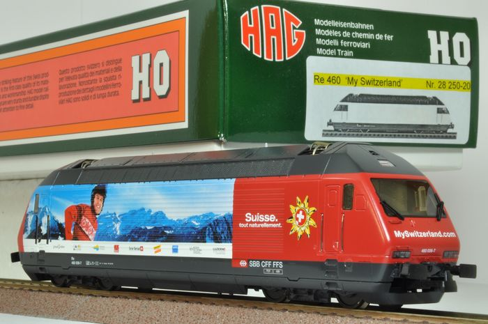 "HAG H0 - 28 250-20 - Elektrolokomotive - Re 460 "" My Switzerland "" - SBB-CFF"