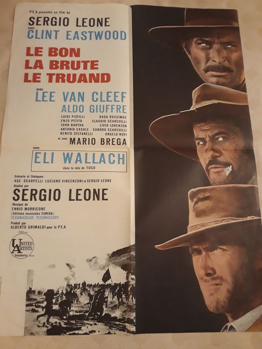 The Good, the Bad and the Ugly - Clint Eastwood, Sergio Leone - Affiche, Original French Cinema release (1968)