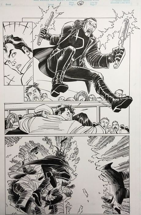 Spider-Man - Peter Parker: Spider-Man The new beginning #1 - Original page (p.16) by John Romita Jr. and Scott Hanna - (1999)