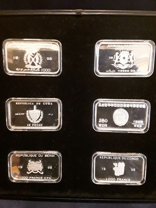 Wereld. Collection various coins 1998 'Deutsche Schiffe' (6 different)