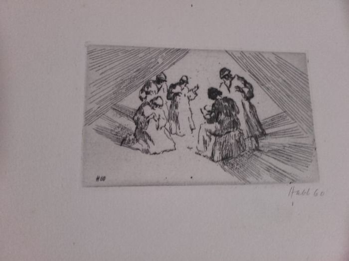 4 signed prints - Willy Habl (1888-1964) - Nachlass Unbetitelt