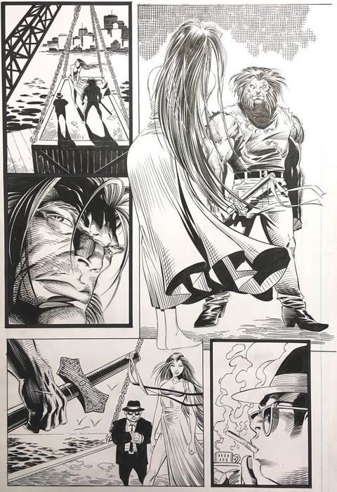 Wolverine Vol. 2 #108 - Original page (p.21) by Anthony Winn and Dan Green - (1996)
