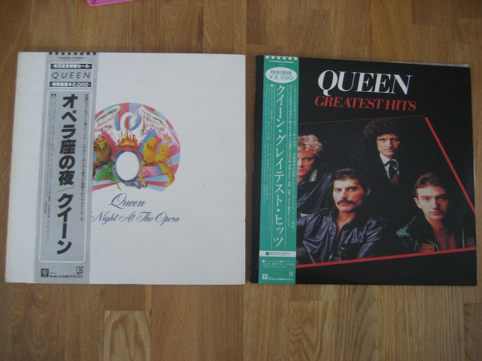 Queen - A night at the opera, Greatest hits [Japanese Pressings] - Multiple titles - LP's - 1981