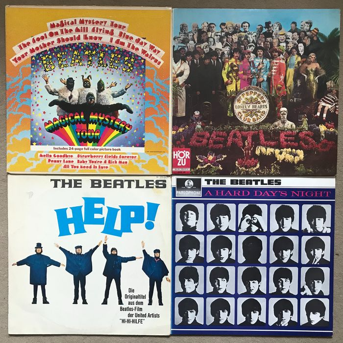 Beatles - 4  LP Albums - Multiple titles - LP's - 1965/1977