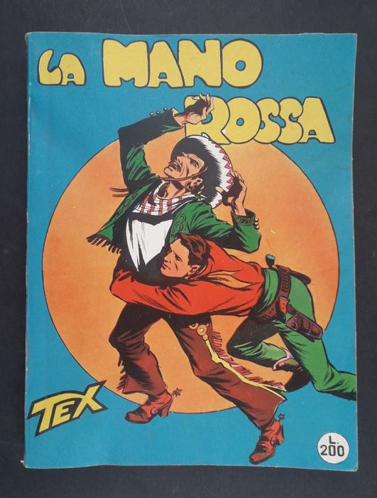 "Tex n. 1 - edizione censurata ""La Mano Rossa"" - Softcover - First edition - (1958)"