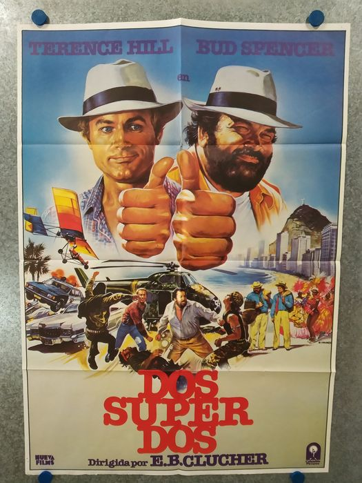 Bud Spencer & Terence Hill - Lot of 5 - see photos - Affiche, Original Spanish Cinema release - 100x70 cm - Art: 4x Casaro & 1x Jano
