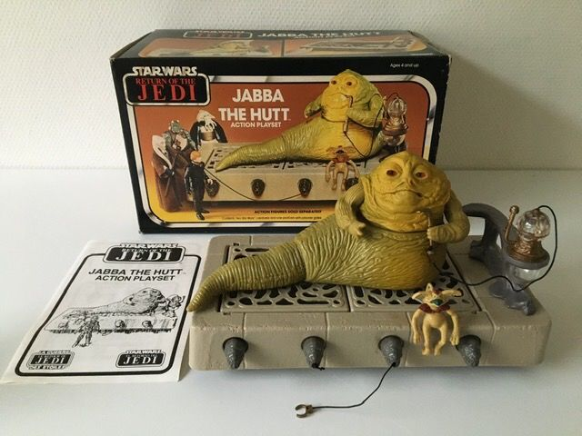 Star Wars Episode VI: Return of the Jedi - Kenner - Personnage d'action - vintage - 1983 - Jabba the Hutt Action Playset with original box
