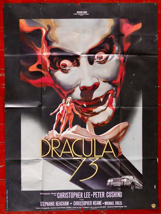 Lot of 2 - Dracula AD 1972 (Christopher Lee)  & Dracula (1979, Frank Langella) - Affiche, Original French cinema release - 120x160 cm