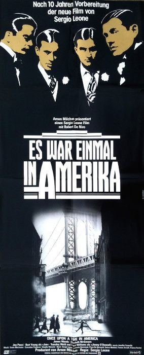 Once Upon a Time in America (1984) - Sergio Leone - Robert DeNiro - Póster, Original 1984 German Cinema release - Art by Casaro - Very Large, 140x60 cm