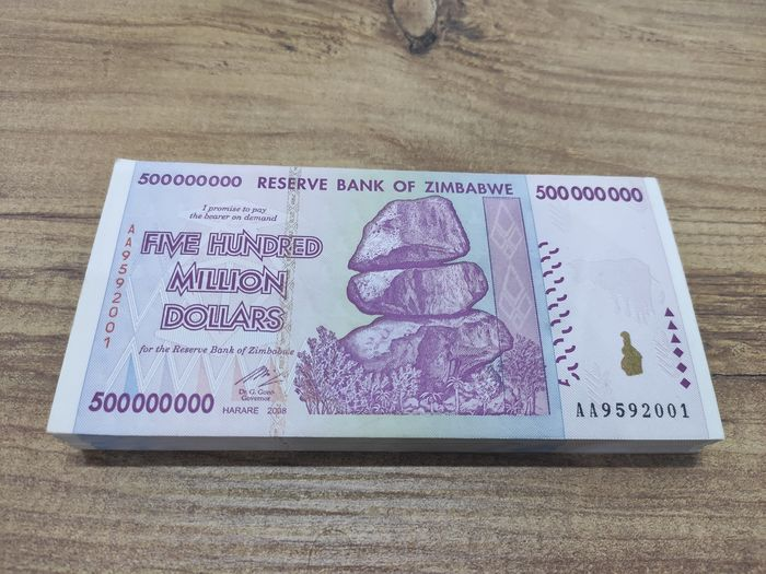 Zimbabwe - 100 x 500 Million Dollars 2008 - Pick 82