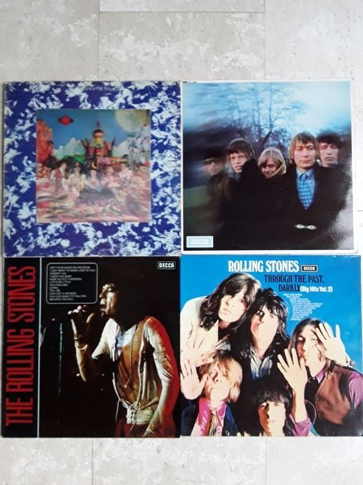 Rolling Stones - 4 Album LPs from the sixties - Multiple titles - LP's - 1964/1969