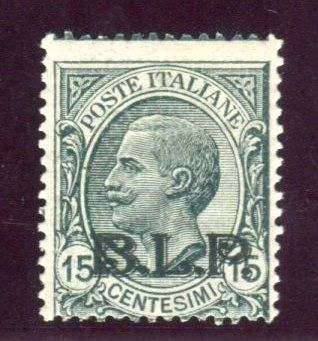 Italien Königreich 1922 - BLP 15 cents 2nd type black overprint - Sassone N. 6A