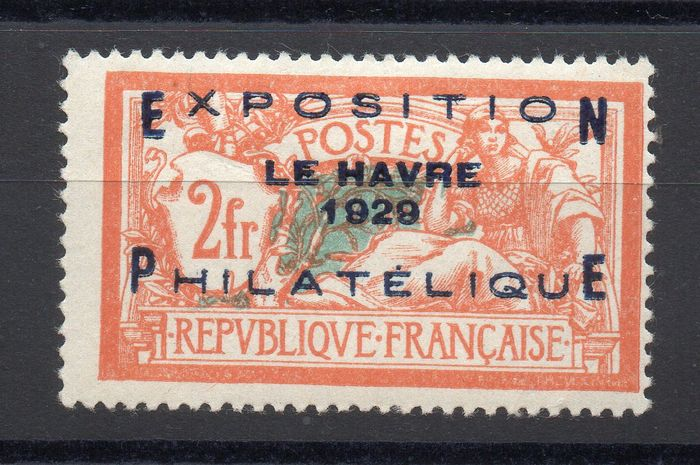 France 1929 - Le Havre philatelic exhibition, signed Richter - Yvert n° 257A