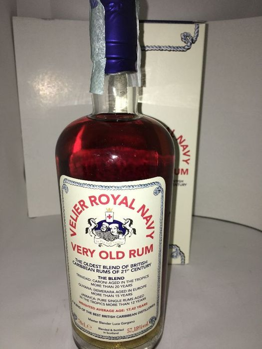 Royal Navy Rum 17 years old Velier - Oldest blend of British Caribbean Rums - 70cl