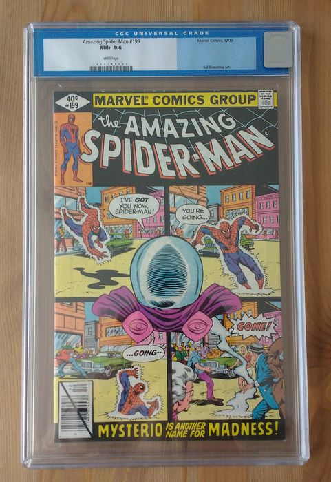 The Amazing Spider-Man #199 - Mysterio Appearance - CGC Graded 9.6 - Broché - EO - (1979)