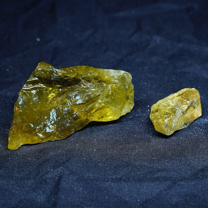 CITRINE QUARTZ Cristaux - 6.2×4×3 cm - 80 g - (2)