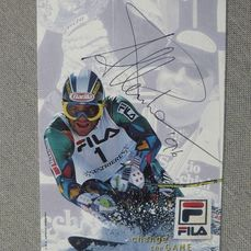 Ski Alpin - Alberto Tomba - 1996 - Fan card