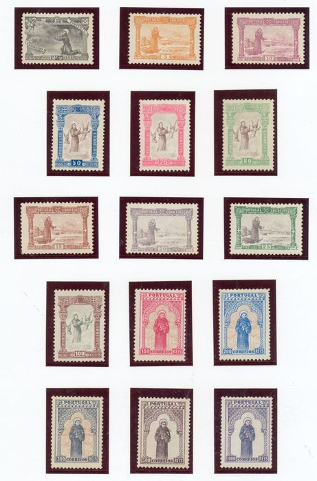 Portugal 1895 - 7th Centenary of the Birth of Saint Anthony Complete Series. - Mundifil 111-125