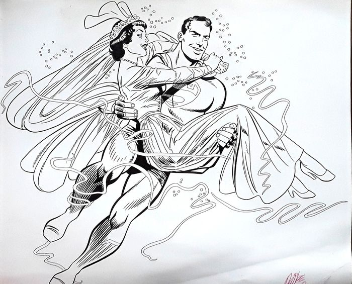 Superman - Original drawing - Superman and Lois Lane