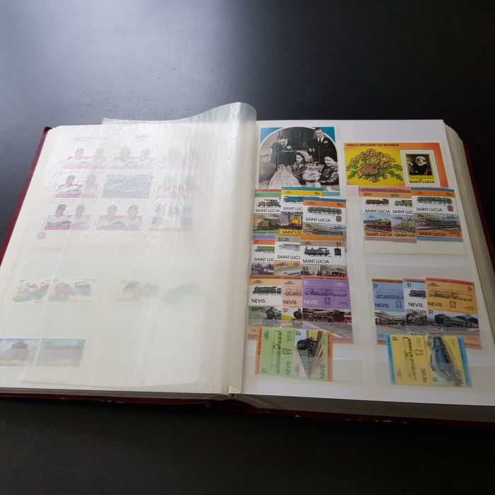 World 1950/2020 - Thick stock book with various countries, mostly modern MNH